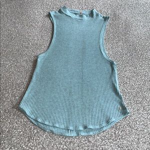 NWOT Prana Ribbed Open-Backed Tanktop